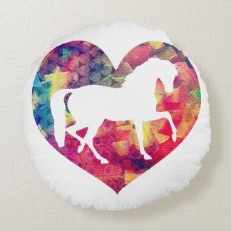 Love for Horses Round Cushion