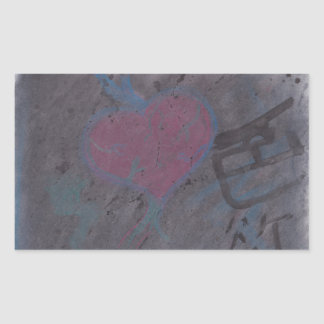 Love for lust rectangular sticker