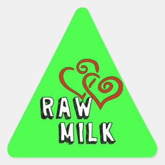 Love for Raw Milk Triangle Sticker