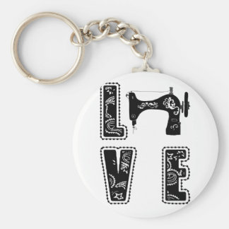 love for sewing key ring