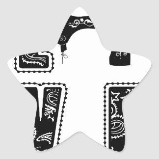 love for sewing star sticker