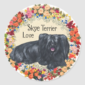 Love for Skye Terriers Classic Round Sticker