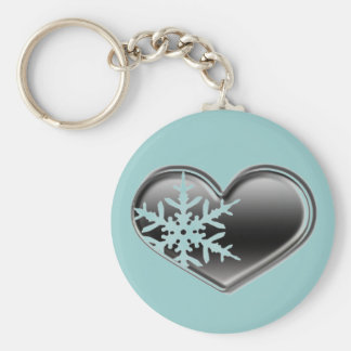 love for winter - snowmobiling key ring