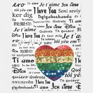 Love foreign languages blanket