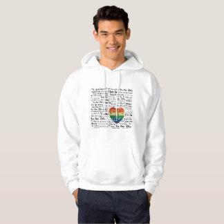 Love foreign languages mens hoodie hood sweatshirt