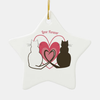 Love Forever Ceramic Star Decoration