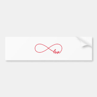 Love forever, red infinity sign, never ending love bumper sticker