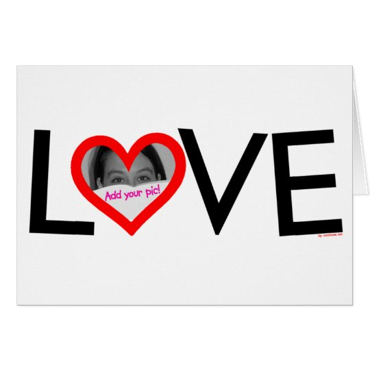 LOVE frame card