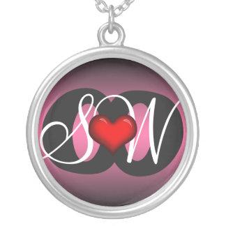 Love & Friendship Heart Pink Dark Necklace