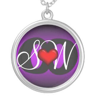 Love & Friendship Heart Purple Dark Necklace