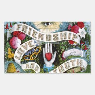 Love Friendship Truth Stickers