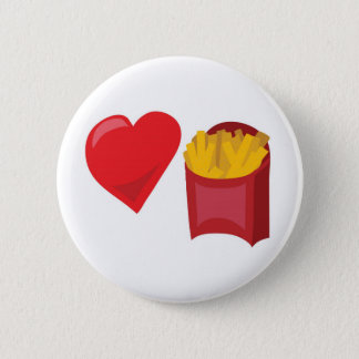 Love Fries!  Customizable: 6 Cm Round Badge