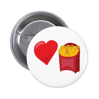 Love Fries!  Customizable: 6 Cm Round Badge