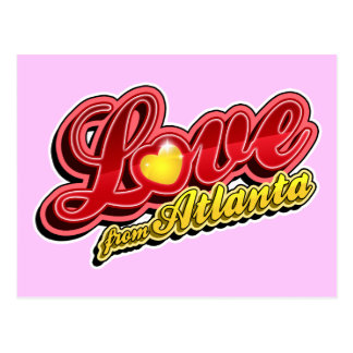 Love From Atlanta Postcard