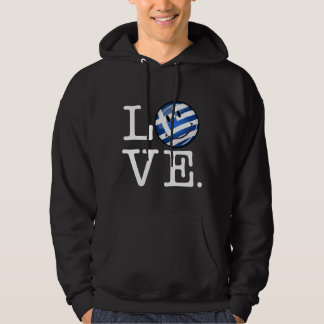 Love From Greece Smiling Greek Flag Hoodie