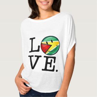 Love From Guyana Smiling Guyanese Flag T-Shirt