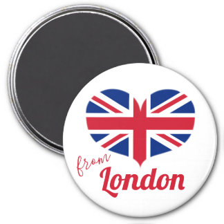 Love from London | Heart Shaped UK Flag Union Jack Magnet