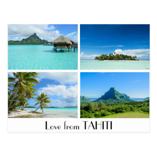 Love from Tahiti landscapes postcard