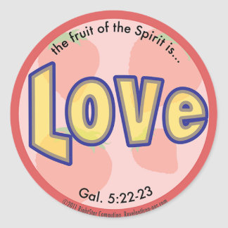 Love Fruit of the Spirit Spots Sticker
