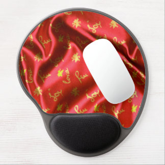 Love,Fun and Joy-Silk,red Gel Mouse Pad
