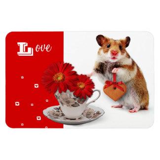 Love. Fun Hamster Mother's Day Gift Magnet Vinyl Magnet