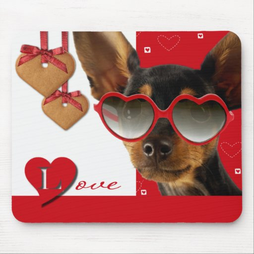Love. Fun Valentine's Day Gift Mousepad Mouse Pads