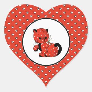 Love. Fun Valentine's Day Gift Stickers Heart Sticker