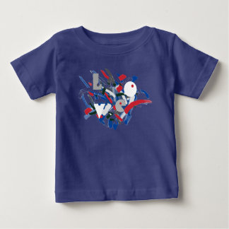 Love Funky Paint Brushes Baby Toddler T-Shirt