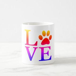 love fur dog pet paw print coffee mug