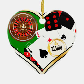 Love Gambling Ceramic Ornament