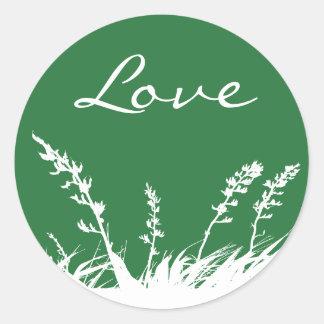 Love Garden Silhouette Envelope Sticker Seal