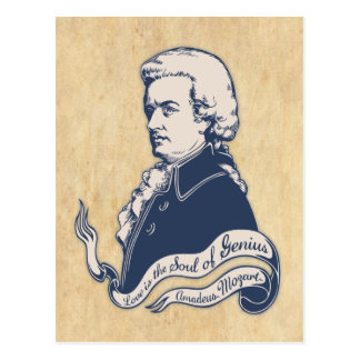 Love = Genius -Mozart Postcard