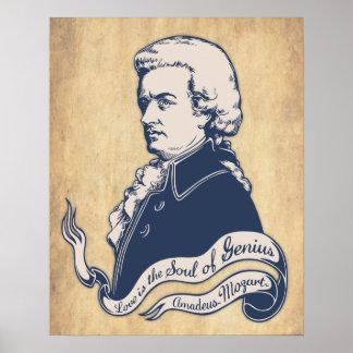 Love = Genius -Mozart Poster