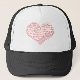 LOVE - geometric  pattern - pink and white. Trucker Hat