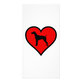 Love German short-Haired Pointer Silhouette Heart Picture Card