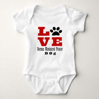 Love German Wirehaired Pointer Dog Designes Baby Bodysuit