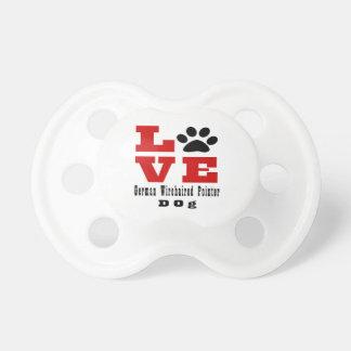 Love German Wirehaired Pointer Dog Designes Baby Pacifier