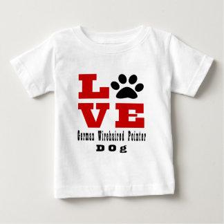 Love German Wirehaired Pointer Dog Designes Baby T-Shirt