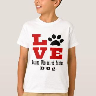 Love German Wirehaired Pointer Dog Designes T-Shirt