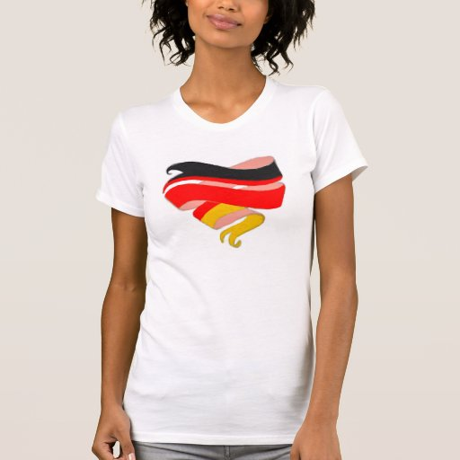 Love Germany Heart Ribbon Shirt Template Customize