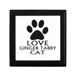 LOVE GINGER TABBY CAT DESIGNS GIFT BOX