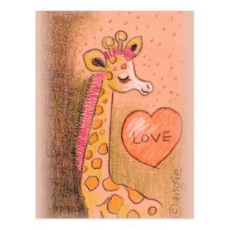 love Giraffe Postcard