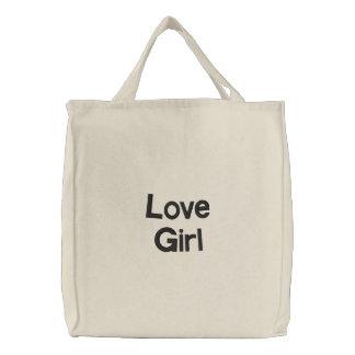 Love Girl Embroidered Bag