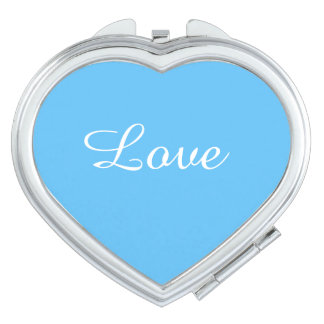 Love girly Turquoise Compact Mirror for her