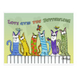 Love Gives you Butterflies-Cats on Fence Post Cards