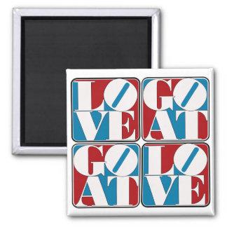 LOVE GOAT BLOCKS SQUARE MAGNET