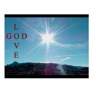 LOVE...GOD... POSTCARD