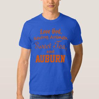 Love God, Saving Animals, Sweet Tea and Auburn Tshirts