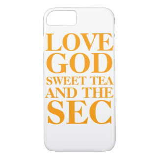 LOVE GOD SWEET TEA AND THE SEC iPhone 8/7 CASE