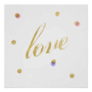 Love Gold Poster
